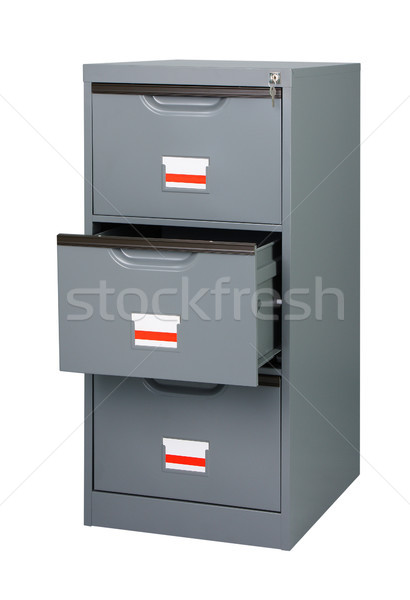 Stock photo: Keep all documents here in the cabinet
