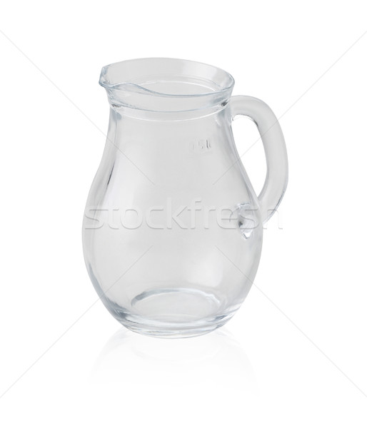 Empty jar to fill syrup ordairy milk isolated on white  Stock photo © JohnKasawa