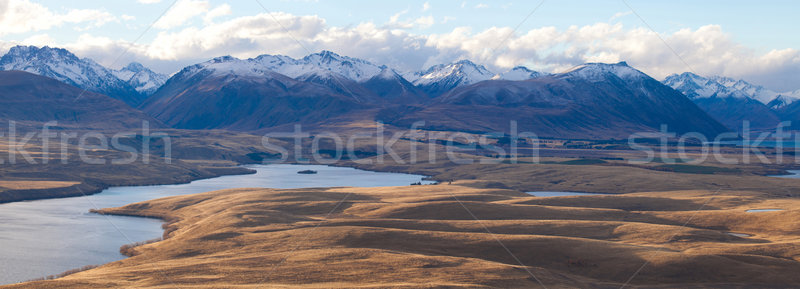 Magic scenery of the Aoraki mount Cook Sefton Tasman mount Minar Stock photo © JohnKasawa