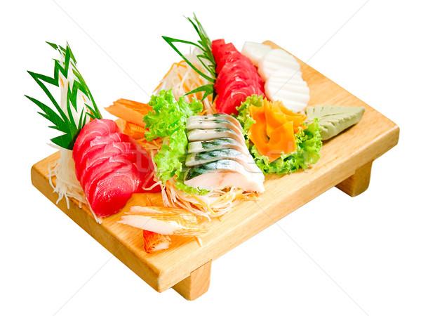 суши вкус японская еда изолированный рыбы ресторан Сток-фото © JohnKasawa