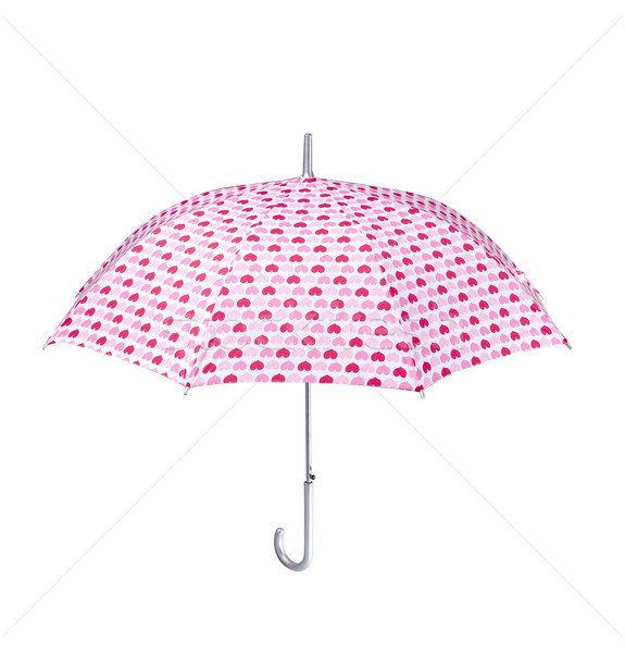 Mooie hartvorm patroon paraplu warmte Stockfoto © JohnKasawa