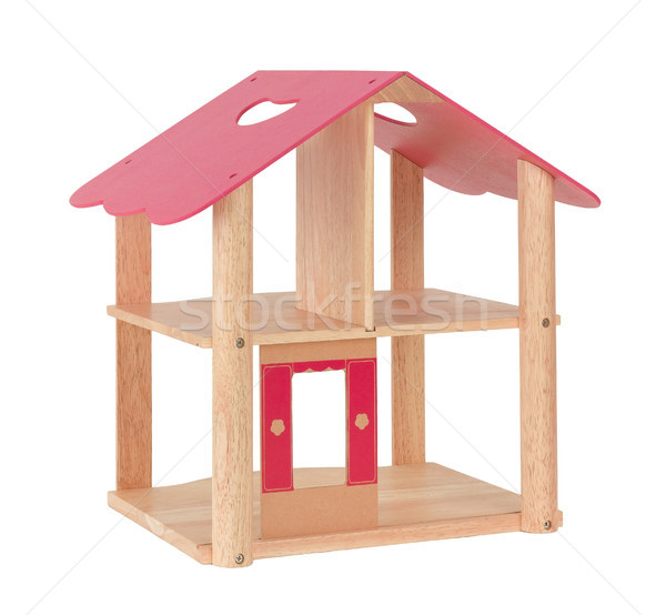Wooden dollhouse with empty spaces kids can enjoy to decorates t Stock photo © JohnKasawa