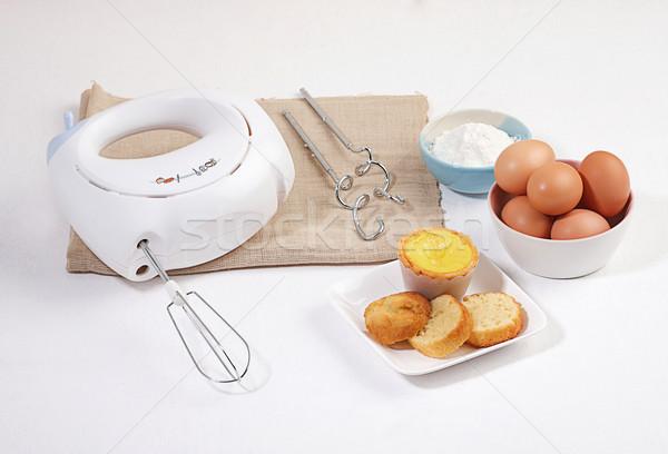 Farinha batedeira padaria cozinhar ferramenta pão Foto stock © JohnKasawa