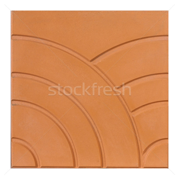 A unique design of the brown floor or wall tile  Stock photo © JohnKasawa