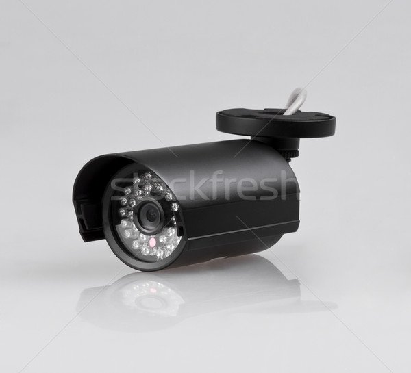 Güvenlik kamera cctv duvar teknoloji güvenlik sanayi Stok fotoğraf © JohnKasawa
