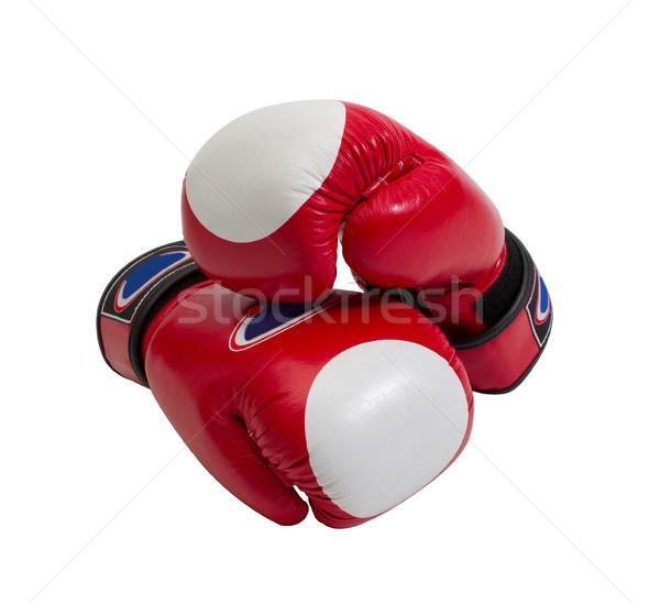 Rosso boxer guanti popolare sport Foto d'archivio © JohnKasawa