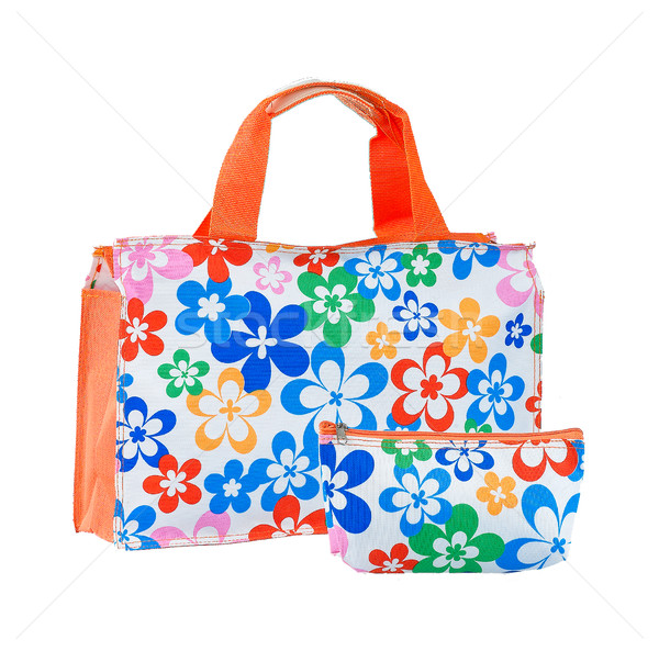 Bom bolsa carteira colorido teste padrão de flor isolado Foto stock © JohnKasawa