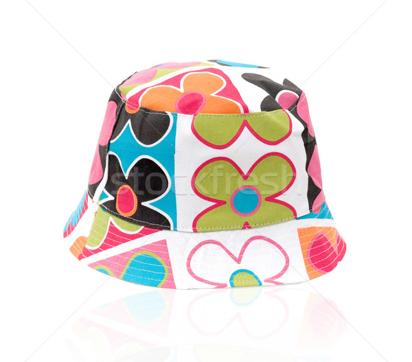 Woman flower pattern hat Stock photo © JohnKasawa