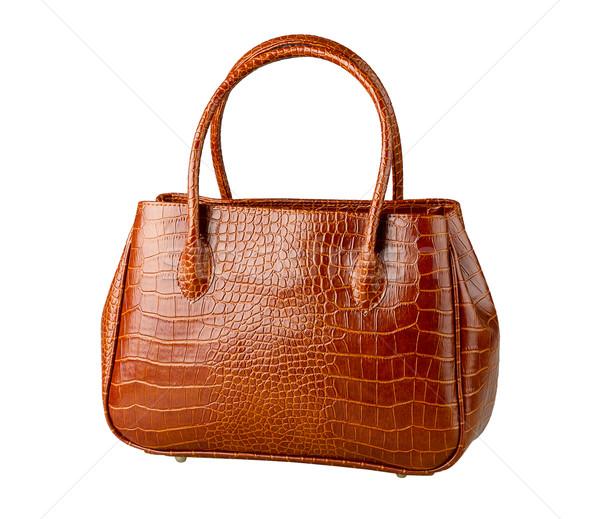 Nice коричневый крокодила кожа сумку сумочка Сток-фото © JohnKasawa