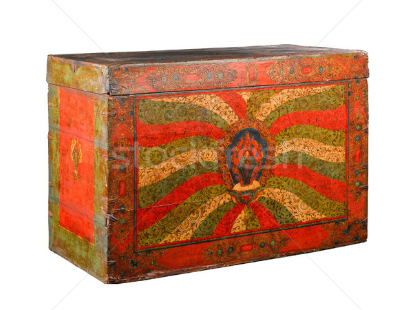 Tibetan stuff ancient buddhism bible box isolated Stock photo © JohnKasawa