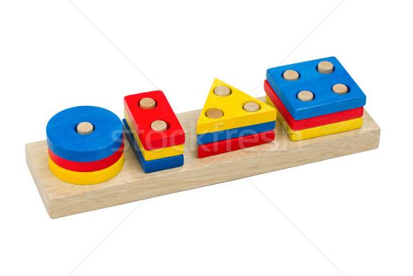 Foto stock: Colorido · dominó · brinquedos · isolado · branco