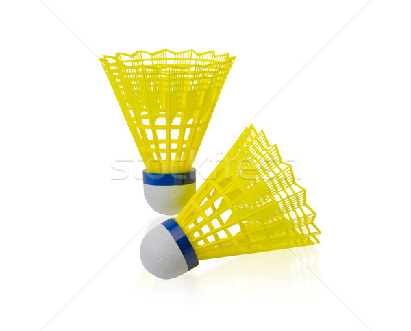 Yellow shuttlecock badminton ball Stock photo © JohnKasawa