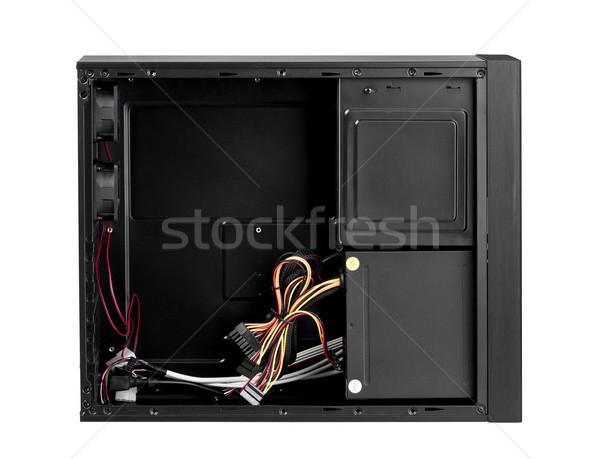 Foto stock: Abierto · ordenador · caso · hardware · aislado