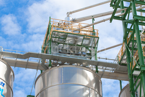 Silo storage tanks of polyethylene  Stock photo © JohnKasawa