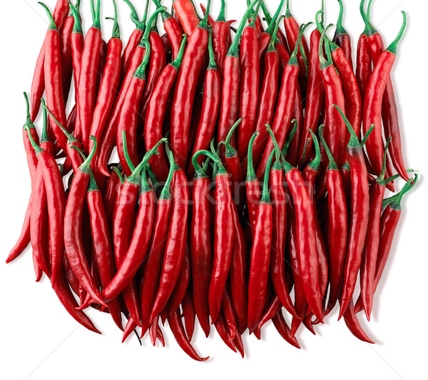 Red chilis the hot tasty from nature arranges on white  Stock photo © JohnKasawa