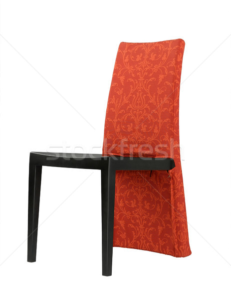 Bonitinho projeto vermelho cadeira quarto sala de estar Foto stock © JohnKasawa