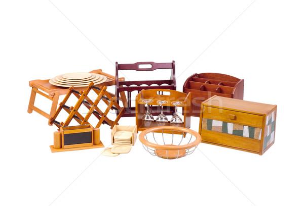 handicraft utensil woodworks to use in the kitchen Stock photo © JohnKasawa