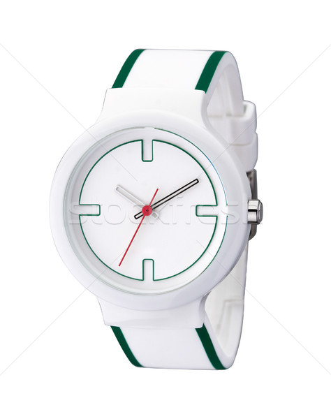 White and nice wristwatch simply but beautiful isolated  Stock photo © JohnKasawa