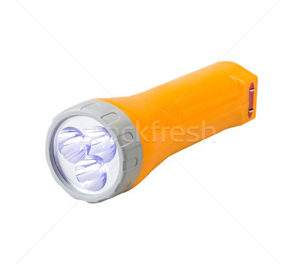 Emergency flashlight isolated on white Stock photo © JohnKasawa