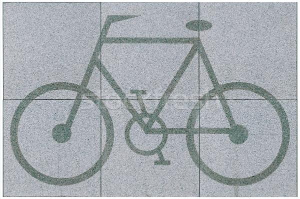 Floor tiles bicycle pattern Stock photo © JohnKasawa