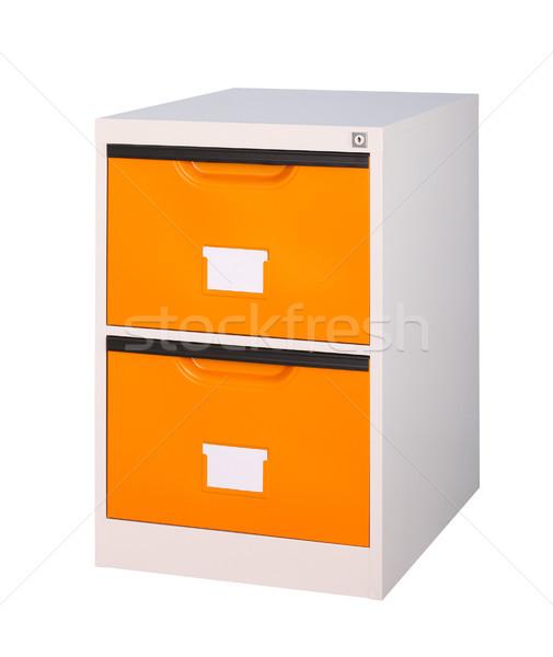 Bright orange cabinet the steel office furniture isolates  Stock photo © JohnKasawa
