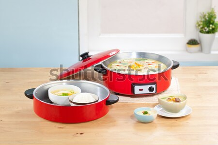 Elektryczne puli przydatny sprzęt kuchenny metal hot Zdjęcia stock © JohnKasawa