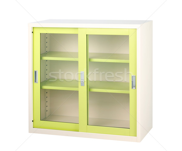 Clear glass doors steel furniture for storages documents files o Stock photo © JohnKasawa