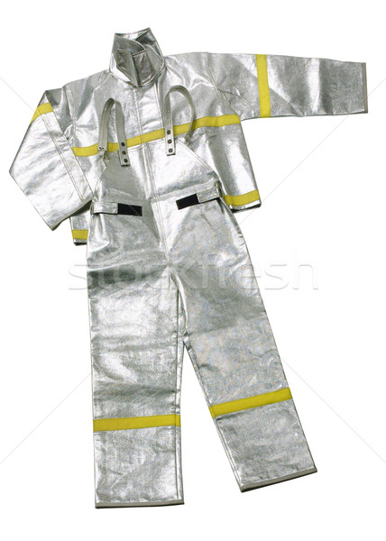 Anti fire or fireman uniform isolated on white  Stock photo © JohnKasawa
