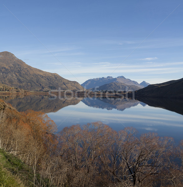 Hayes lake close to Wanaka lake on a sunny day in early autumn N Stock photo © JohnKasawa