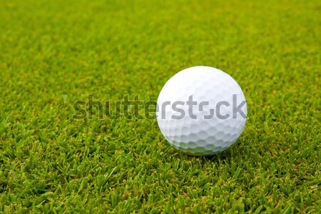 Golfball on green field Stock photo © JohnKasawa