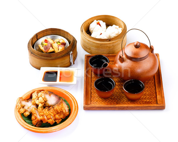 Dim sum set for lunch Stock photo © JohnKasawa