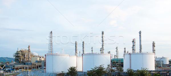 Panoramic view of the propylene chemical plant Stock photo © JohnKasawa