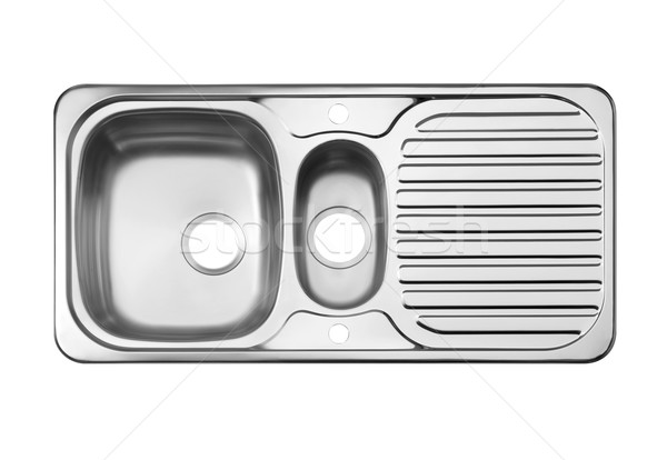 Top view of the empty sink the necessary kitchenware isolated on Stock photo © JohnKasawa