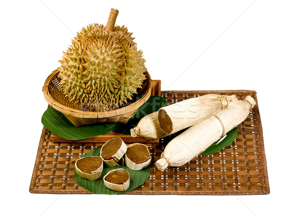Durian and Durian jam preserved widely known as king of fruit sp Stock photo © JohnKasawa