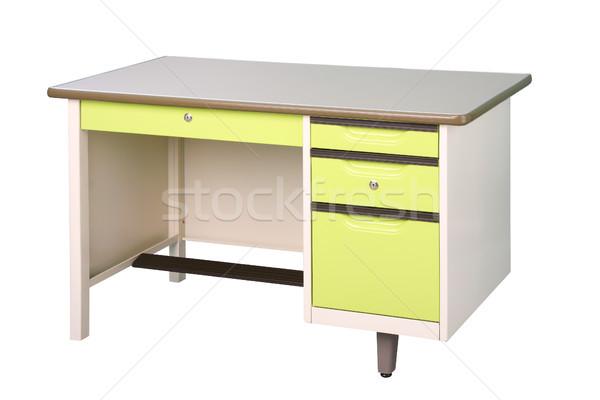 Сток-фото: стали · рабочих · столе · ярко · зеленый · цвета