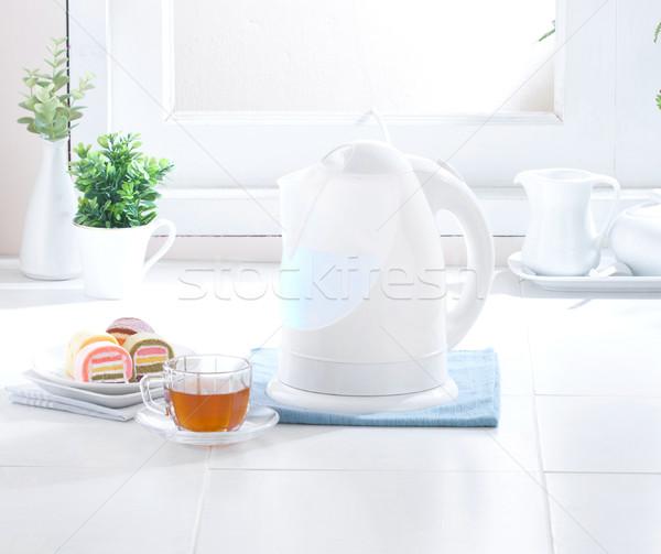 Nice sauber Hygiene Küche trinken Stock foto © JohnKasawa