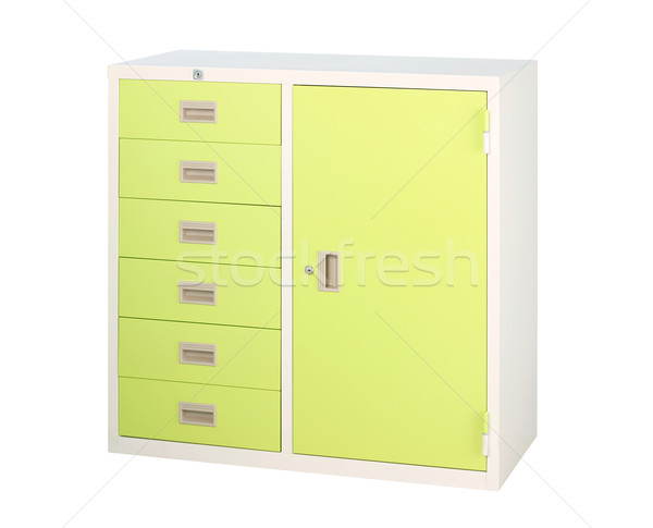 Metal steel furniture in colorful bright green color isolated  Stock photo © JohnKasawa