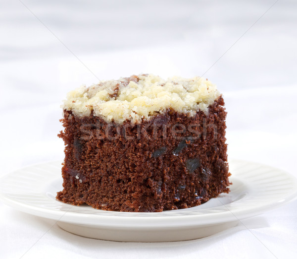 Sweet dice slice brownie cake topping with icing Stock photo © JohnKasawa