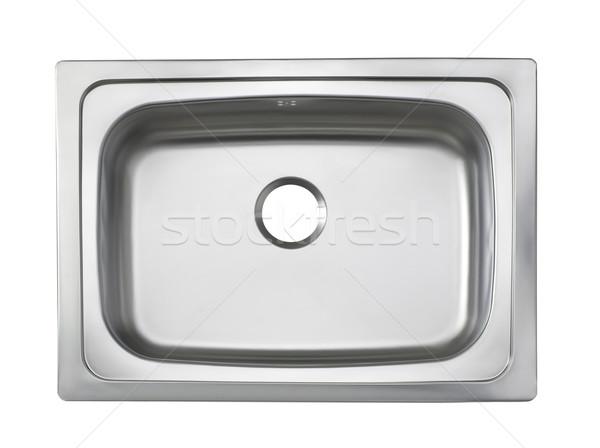 üst görmek batmak mutfak gereçleri yalıtılmış beyaz Stok fotoğraf © JohnKasawa