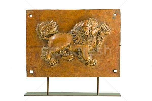 アンティーク ライオン 真鍮 山 色 歴史 ストックフォト © JohnKasawa