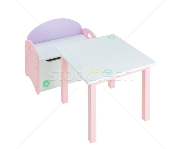 Schreibtisch Stuhl Feld Kinder Lernen Kindergarten Stock foto © JohnKasawa