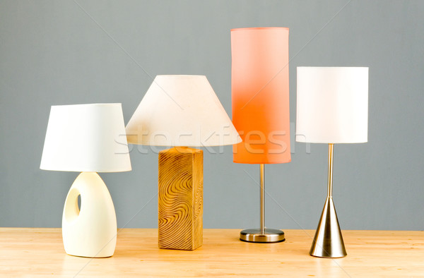 Attractive Stock Photo: Side Bed Lamp Or Living Room Decoration Lighting Part 12
