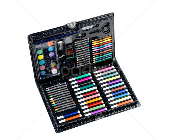 Boxes of crayon pencils  Stock photo © JohnKasawa