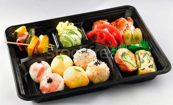 Japán ételhordó doboz stílus gyors étel jó Stock fotó © JohnKasawa