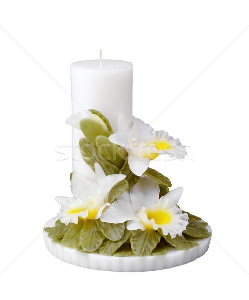 Handicraft candle light orchid flower design, Stock photo © JohnKasawa