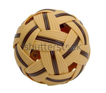 Plastikowe piłka azja południowo-wschodnia ulubiony sportowe wykonywania Zdjęcia stock © JohnKasawa
