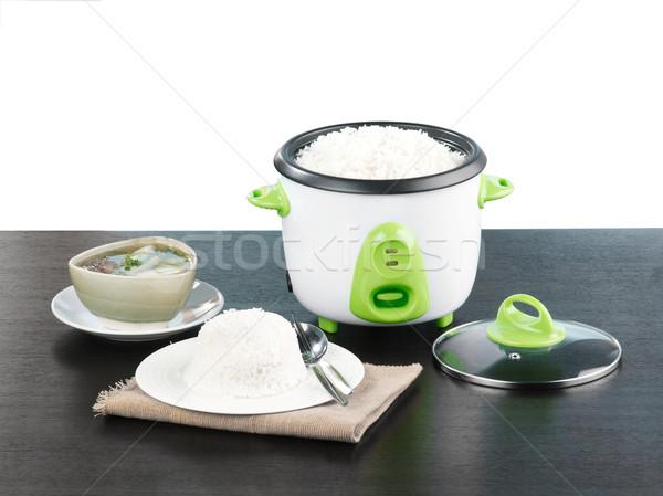 Elektryczne ryżu puli nice sprzęt kuchenny zdrowia Zdjęcia stock © JohnKasawa