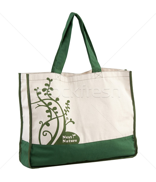 Nice and high capacity of the green fabric bag Stock photo © JohnKasawa