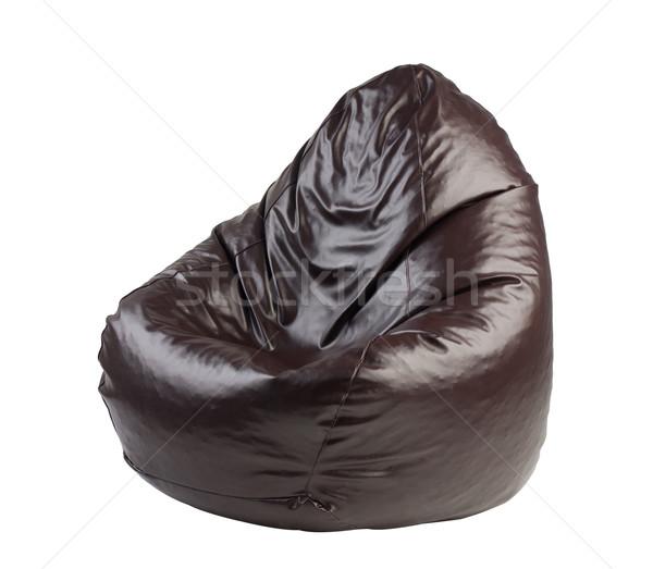 Comfortabel zitting geïsoleerd stoel ontspannen interieur Stockfoto © JohnKasawa