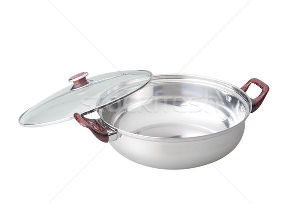 Aluminum cooking pot isolated on white  Stock photo © JohnKasawa